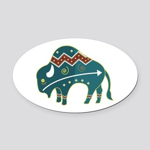 native buffalo Oval Car Magnet