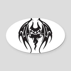 tattoo style bat Oval Car Magnet