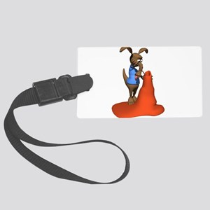 anteater and anttill Large Luggage Tag