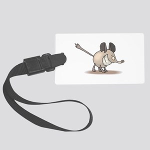 silly smiling anteater Large Luggage Tag