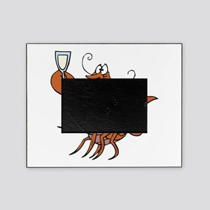 toasting wine lobster Picture Frame