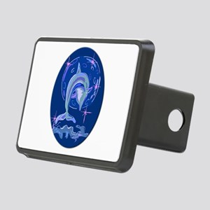 dolphin w moon Rectangular Hitch Cover