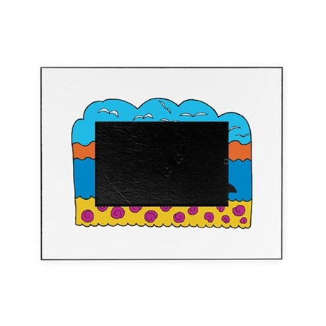 happy colorful whale design.png Picture Frame