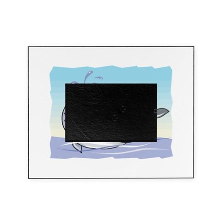 happy whale Picture Frame