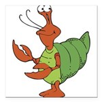 silly happy hermit crab.png Square Car Magnet 3