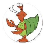 silly happy hermit crab.png Round Car Magnet