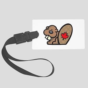 cute canadian beaver Large Luggage Tag