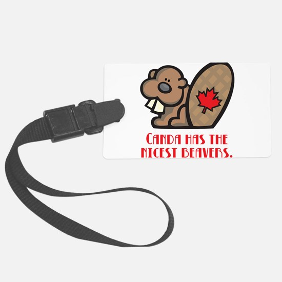 nicest beavers.png Luggage Tag