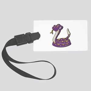 purple rattle snake copy Large Luggage Tag