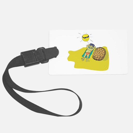 suntanning turtle.png Luggage Tag