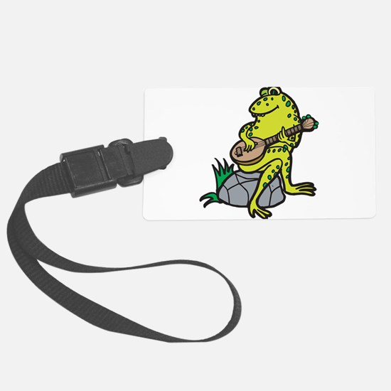 frog playing guitar.png Luggage Tag