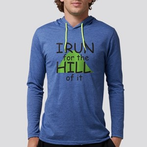 Funny Hill Running Mens Hooded Shirt