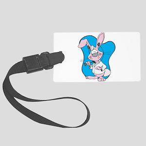 docotr bunny rabbit Large Luggage Tag