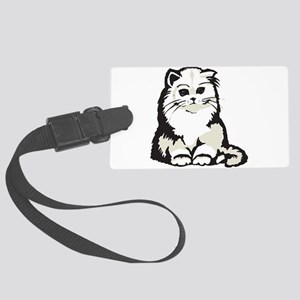 cute white persian kitten Large Luggage Tag