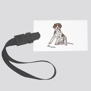 POINTERSITTING copy Large Luggage Tag