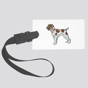 wire-haried pointer copy Large Luggage Tag