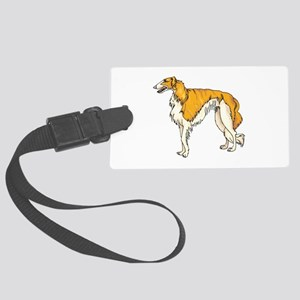 wolfhound copy Large Luggage Tag