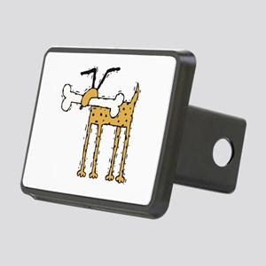 funny dog with bone.psd Rectangular Hitch Cover