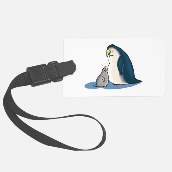 daddy and baby penguin.png Luggage Tag