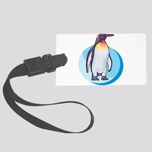 king penguin Large Luggage Tag