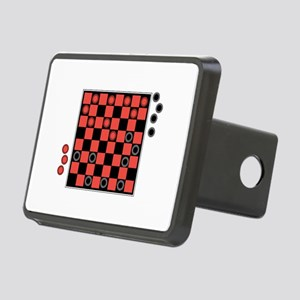 checkerboard copy Rectangular Hitch Cover