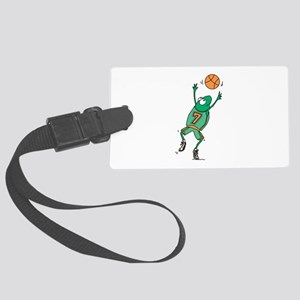 basketball frog copy Large Luggage Tag