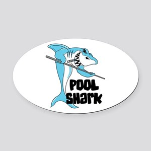 pool shark copy Oval Car Magnet