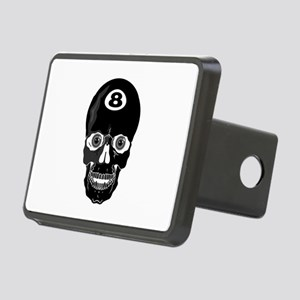 pool skull copy Rectangular Hitch Cover