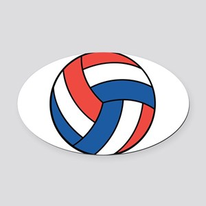 american volley copy Oval Car Magnet
