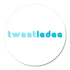 tweetledee Round Car Magnet