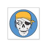 pirate skull colored copy.jpg Square Sticker 3
