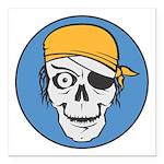 pirate skull colored copy.jpg Square Car Magnet 3
