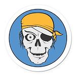 pirate skull colored copy.jpg Round Car Magnet