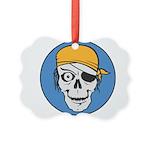 pirate skull colored copy.jpg Picture Ornament