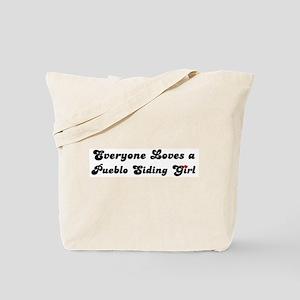 Pueblo Siding girl Tote Bag
