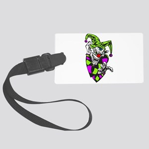 grabbing evil clown Large Luggage Tag