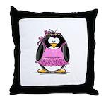 Ballet Penguin Throw Pillow