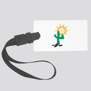 cactus and sun copy Large Luggage Tag