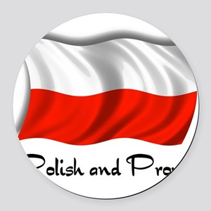 polish and proud2 Round Car Magnet