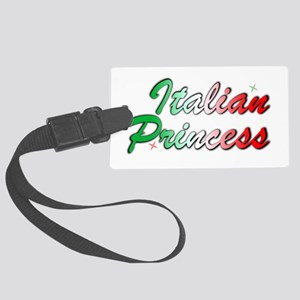 italian princess Large Luggage Tag