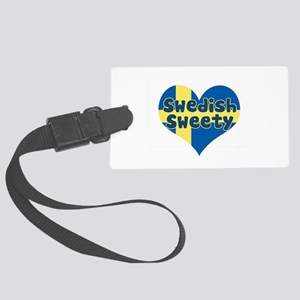 swedish flag copy Large Luggage Tag