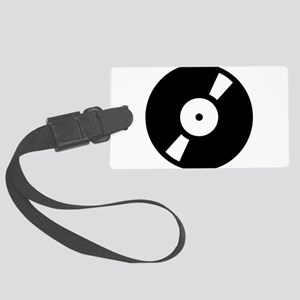 retro vinly record Large Luggage Tag