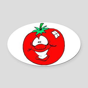 tomatofaceCUTE copy Oval Car Magnet