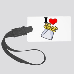 french fries Large Luggage Tag