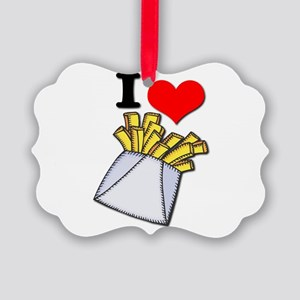 french fries Picture Ornament