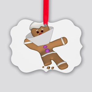 Funny Bit Himself Gingerbread Man Picture Orna
