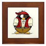 Pirate Penguin Framed Tile