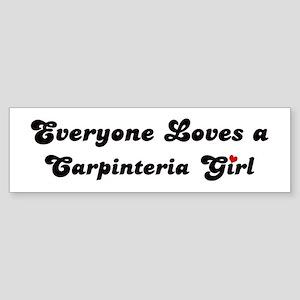 Carpinteria girl Bumper Sticker