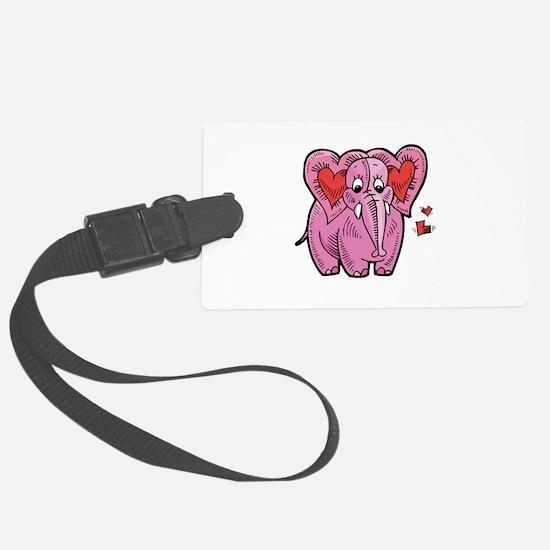 valentine elephant copy.jpg Luggage Tag