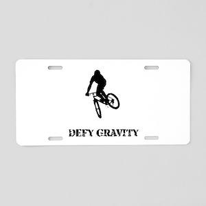 Defy Gravity Aluminum License Plate